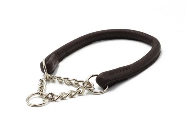 Halsband rundgenäht mit Ketteneinsatz