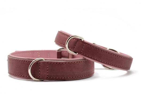 Halsband Klassik Premium altrosa-rosa