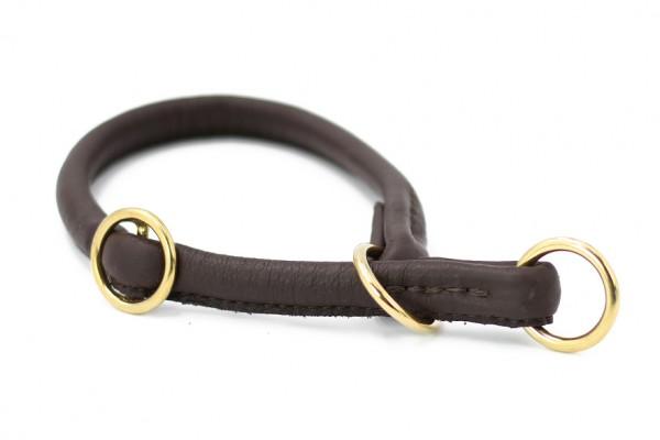 Halsband rundgenäht dunkelbraun
