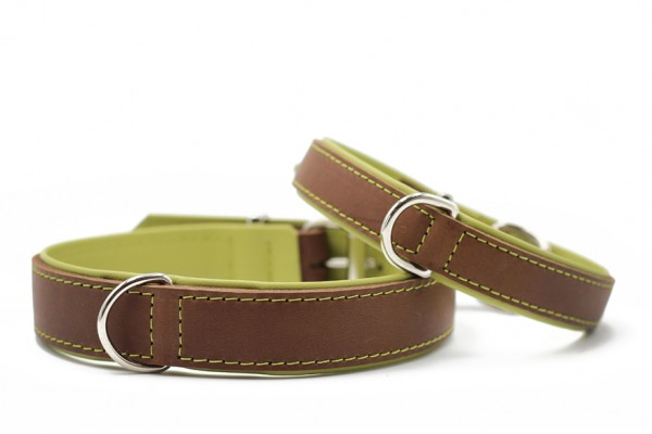 Halsband Klassik Premium mokka-pistazie