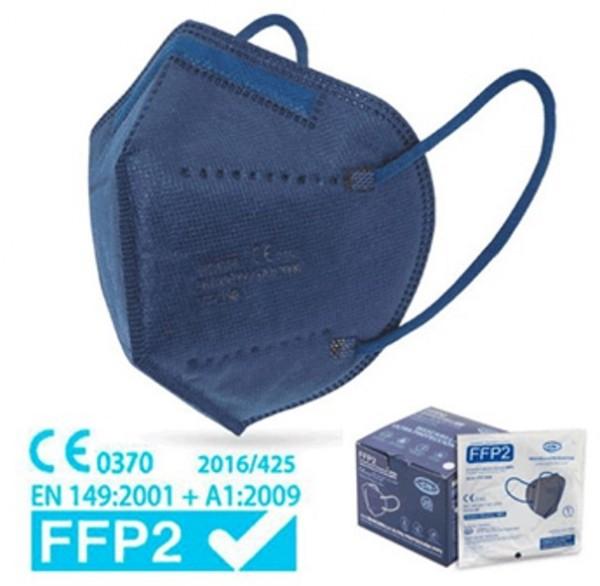 FFP2 MASKE BLAU - EINZELN VERPACKT (25ER BOX)