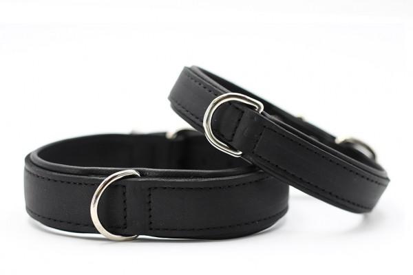 Halsband Klassik Premium schwarz-schwarz