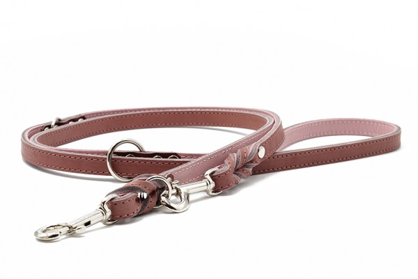 Lederleine Klassik Premium altrosa-rosa