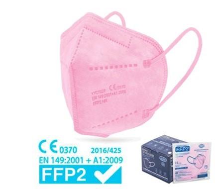 FFP2 MASKE ROSA - EINZELN VERPACKT (25ER BOX)-Copy-Copy
