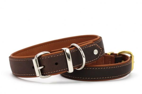 Halsband Klassik Premium Soft braun-cognac